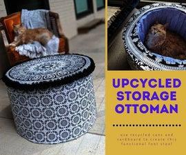 Upcycled Storage Ottoman