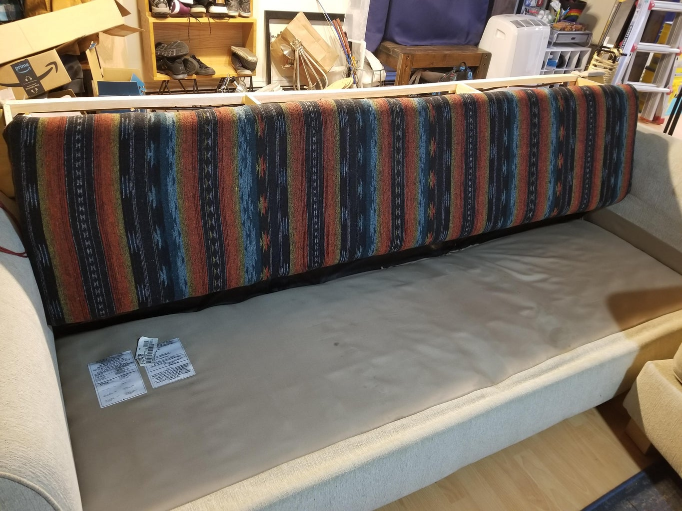 Upholstering the Cushion