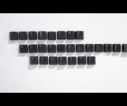 Imanes hechos de teclas de teclado