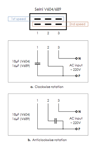 is this the right way to wire an old one capacitor washing