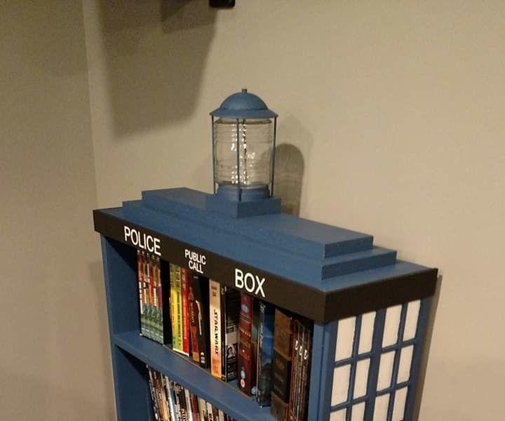 Tardis Book or Movie Shelf