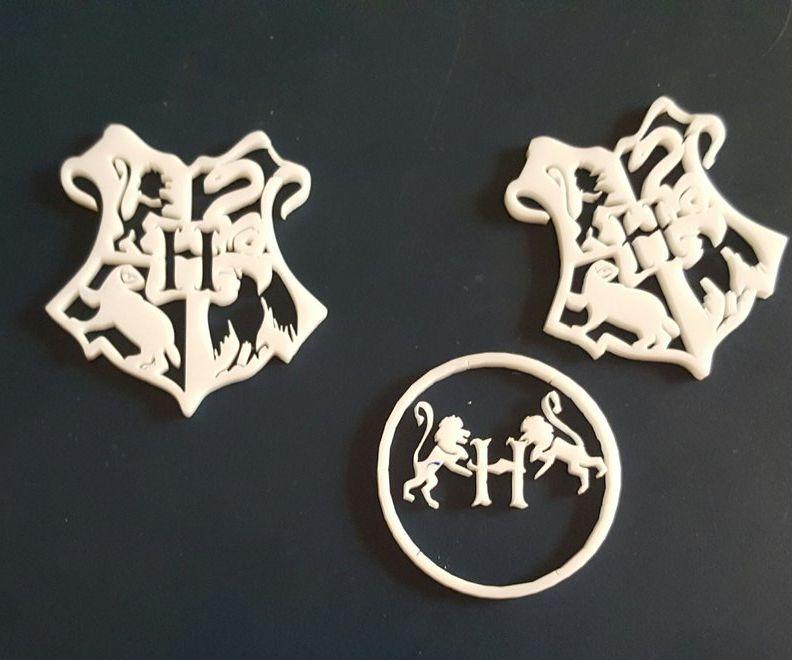 Laser Cut Happy Potter Crest Symbol