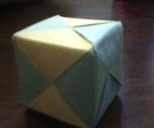 How to Make an Origami Cube Using 6 Pieces of Paper
