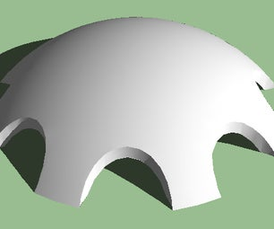 Constructing Monolithic Domes on Google SketchUp
