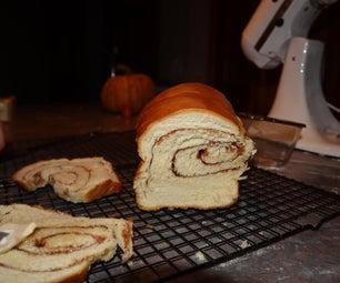 雅致和美丽的肉桂葡萄干面包(无需面包制造商)