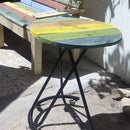 rainbow bench / banco arco iris