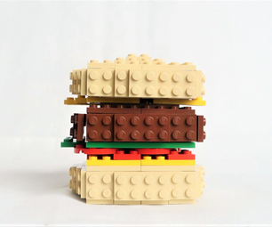 How to Make a Cheese Burger Out of LEGOs - Tutorial