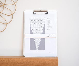 DIY Magnetic KNITTING CHART HOLDER