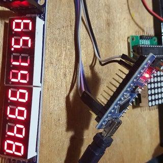 Arduino Nano: Analog 7 Segment MAX7219 Display With Visuino