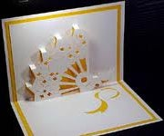 How to Make a Kirigami Fan Pop Up  Card!