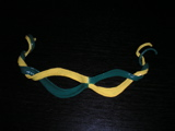Hardened-leather Mari Gras mask