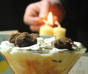 Coupe Andy - Apricot Granita, Chocolate, Custard & Cream