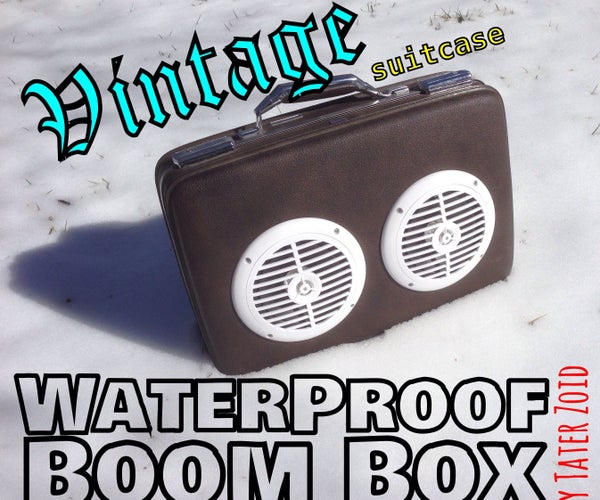 Vintage Waterproof Boom Box