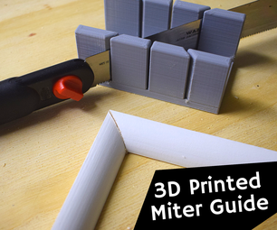 How to Make a 3D Printed Miter Guide With Fusion 360