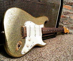 Gold Flake Finish a Guitar