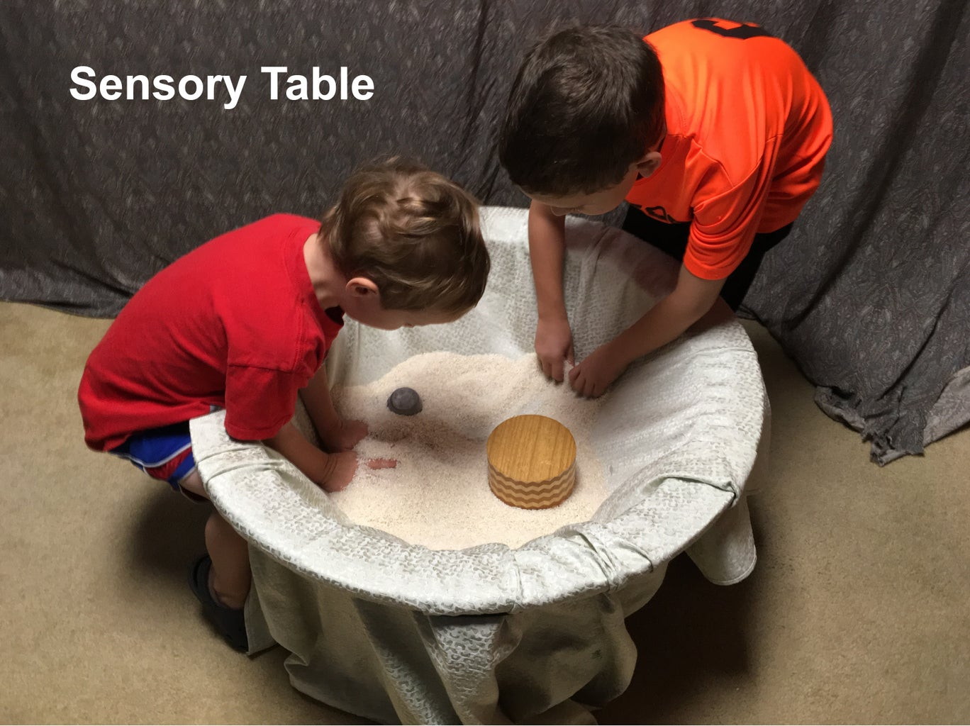Sensory Table From Old Coffee Table