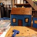 Hot Glue Cardboard House