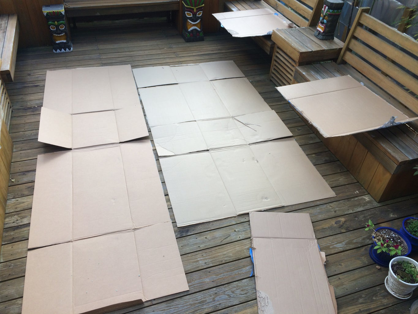 Carefully Disassemble Your Cardboard Boxes.