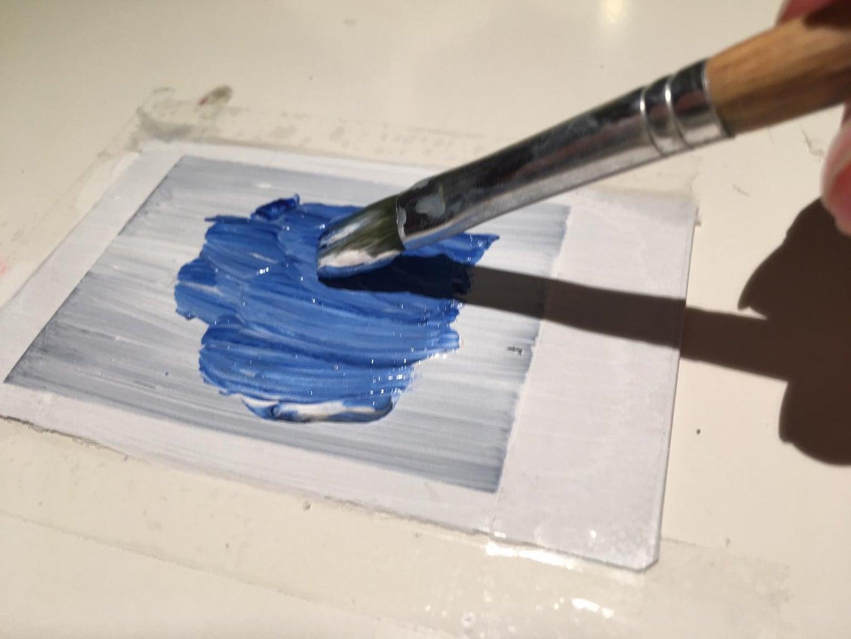 Paint the Background Light Blue