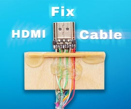 Repair Broken HDMI Cable Without Soldering Skills