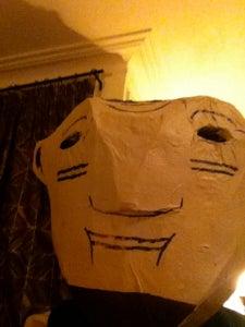 Creating a Papier Mache Head of Felix Morton