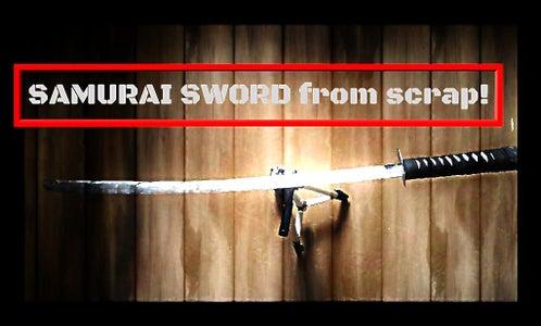 MAKING a Katana-Samurai Sword From Scrap!