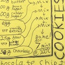 Post-it Note Cookie Recipe