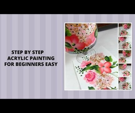 STEP BY STEP ACRYLIC PAINTING FOR BEGINNERS EASY