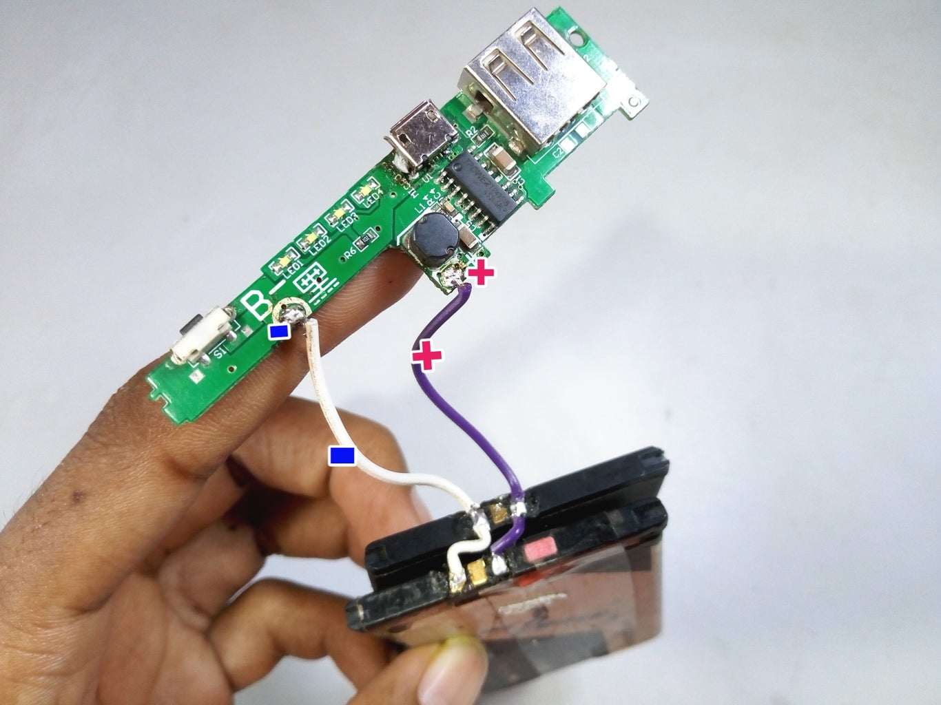 Connect Batteries to the Power Bank Kit