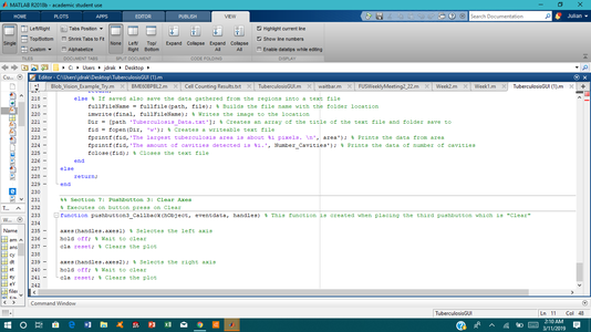 Combining the Tuberculosis Code With the GUI Code