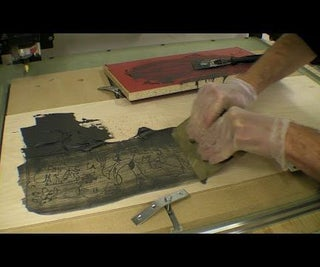 CNC Cut of Picasso's Guernica / Infilled With Pigmented Epoxy Filler