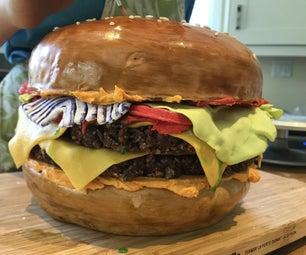 巨型汉堡蛋糕!