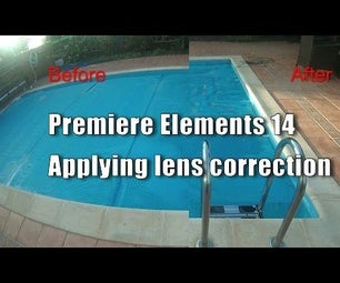 Premiere Elements 14 - How to Apply Lens Correction