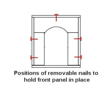 Front Panel With Door Opening