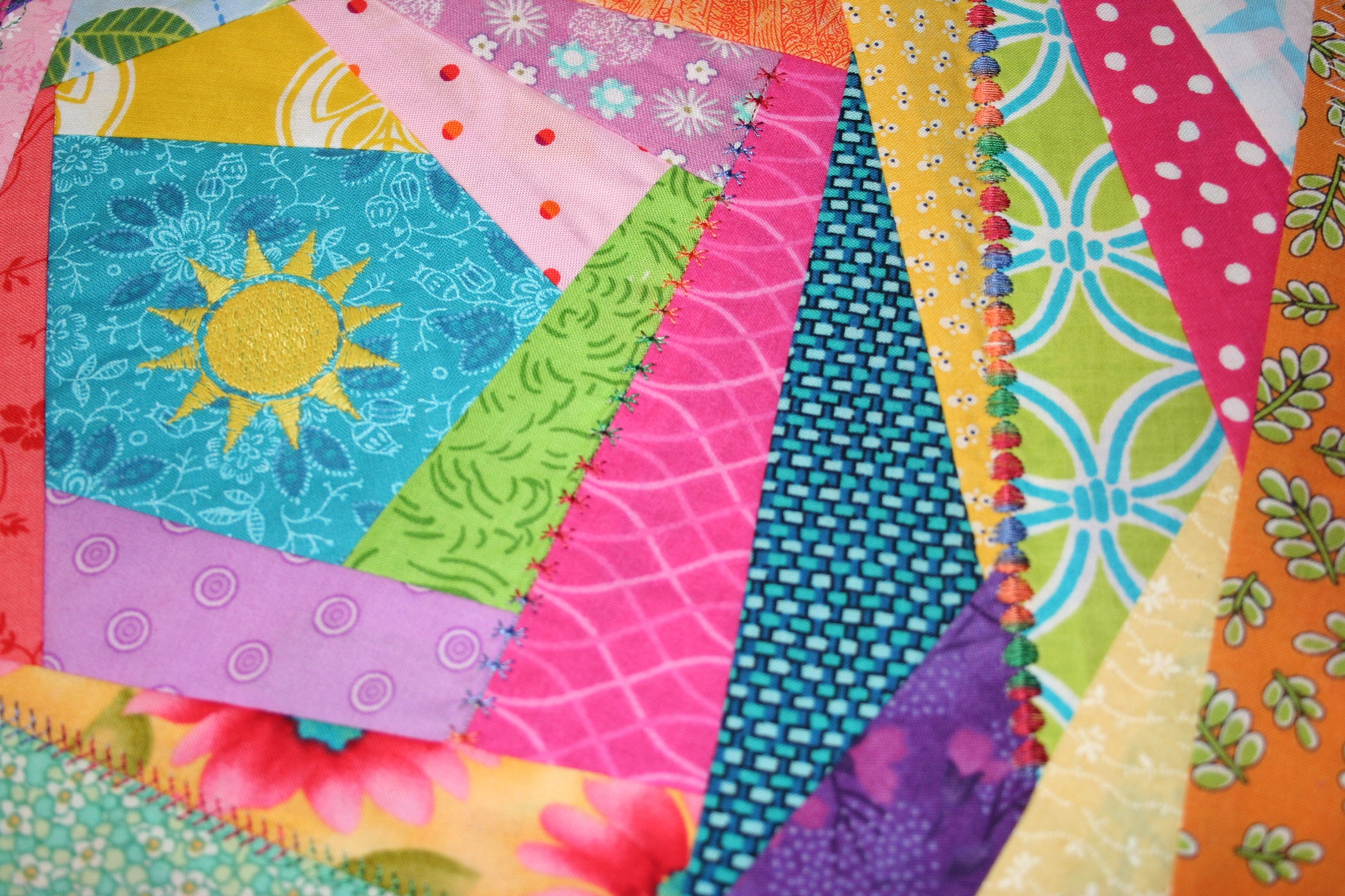 How To Sew An Easy Crazy Quilt Block 9 Steps With Pictures Instructables