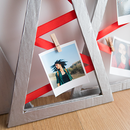 DIY Recycled Christmas Photo Display
