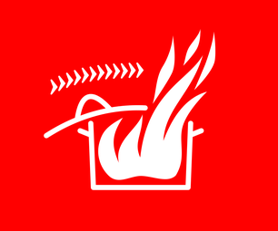 Grease Fire Safety Sticker
