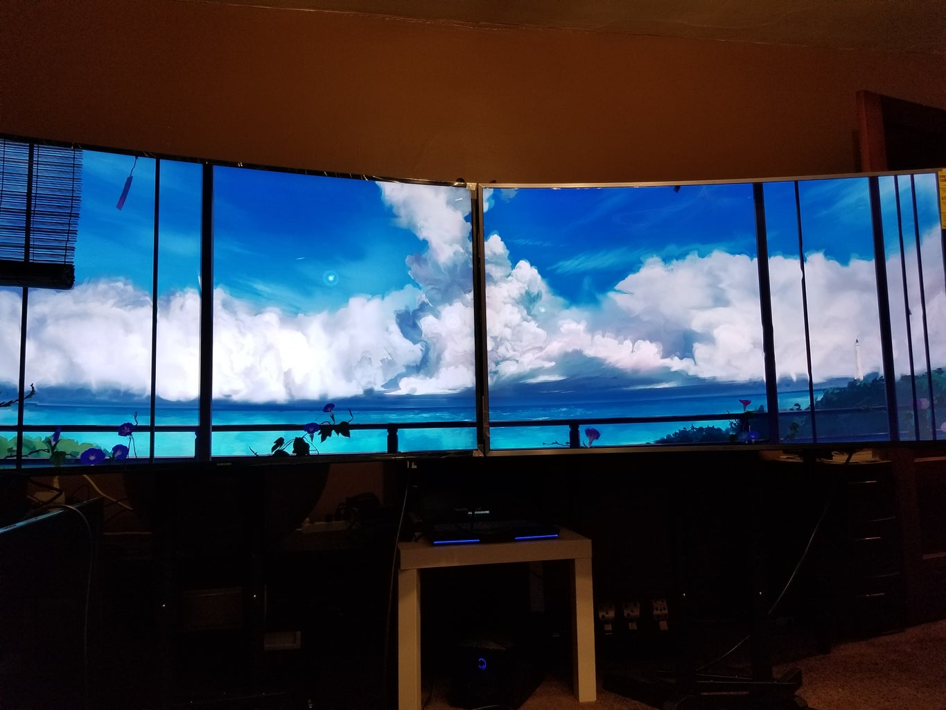 Dual 55-inch Curved TV Setup for PC Monitor