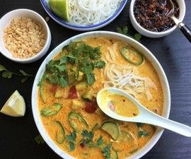 Laksa Malaysian Soup (Vegetarian/Vegan)