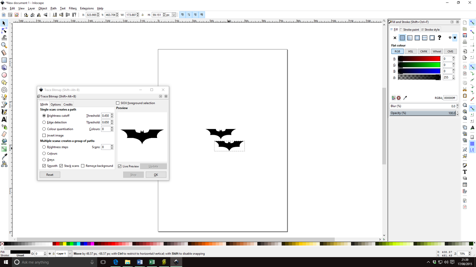 Convert the Image Into a Vector File