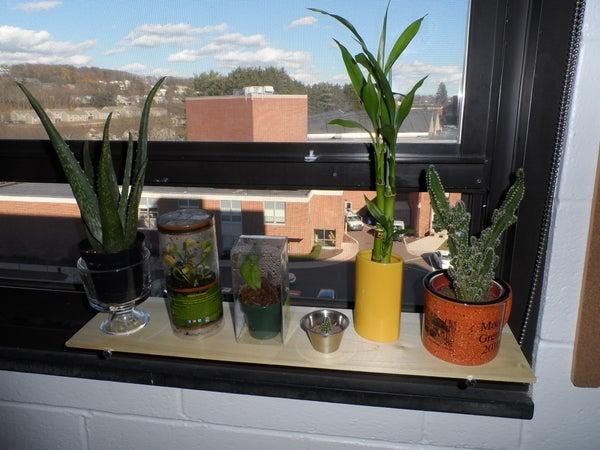 Simple Dorm Room Plant Shelf