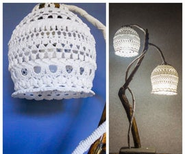 Lamp Made of Yarn, Concrete and Wood