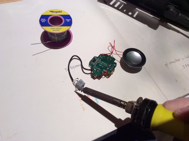 Soldering the Female Aux Input Socket