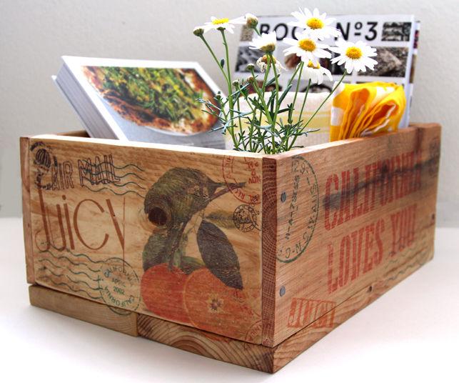 Pallet Crates & Inkjet Image Transfer to Wood