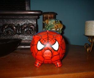 Spiderman Piggy Bank........spider Pig