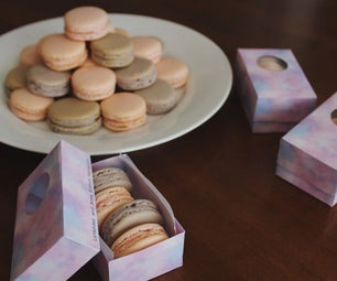 Lavender and Rose French Macarons