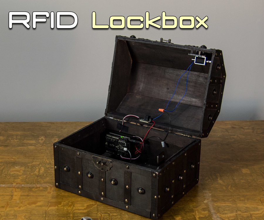 Arduino Lockbox With Solenoid and RFID & Custom Hardware