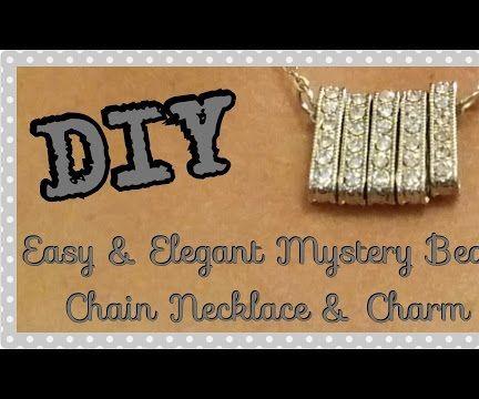 DIY Easy & Elegant Mystery Bead Necklace & Charm
