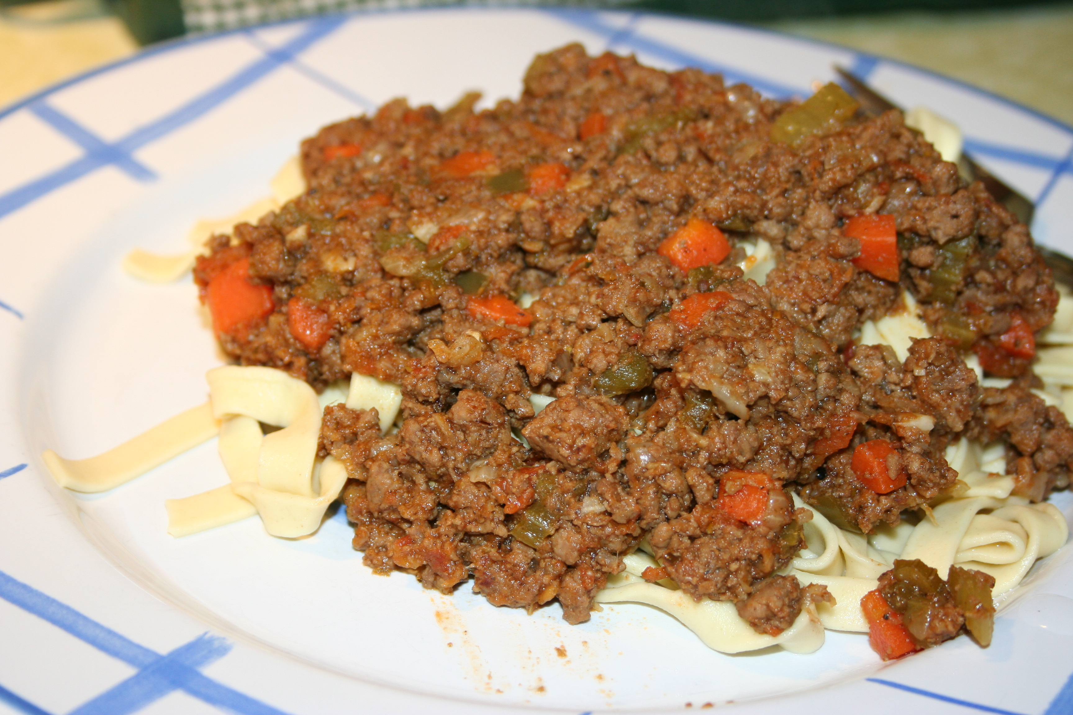 Tomato and beef sauce completely from scratch