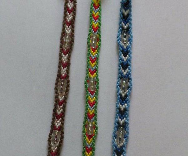 Beaded Bordered Chevron Friendship Bracelet